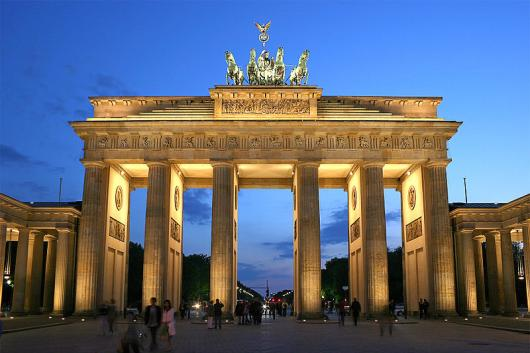The Brandenburg gate in Berlin - one of the symbols of Germany capital